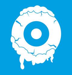Scary eyeball icon white vector