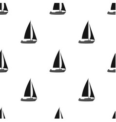 Sailboat for sailingboat to compete in sailing vector