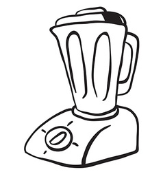 Simple black and white blender vector