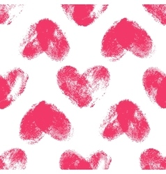 Seamless pattern with fingerprint hearts vector