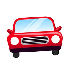 A view of a car vector image vector image
