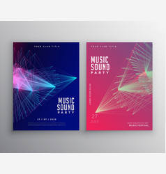 abstract music flyer template design with vector image vector image
