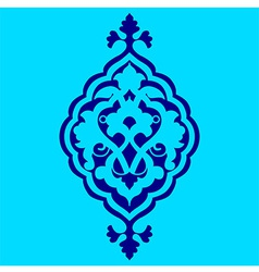 Artistic ottoman pattern series sixty nine vector