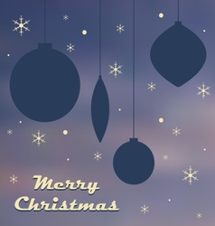 Christmas retro poster template vector