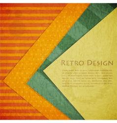 Color Paper Retro vector image vector image