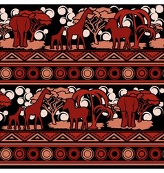 Colorful pattern in African style vector image vector image