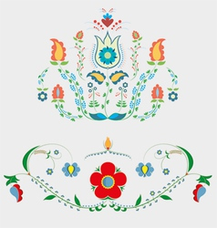 Crimean tatar floristic ornament vector
