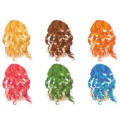 Curly hair styles vector