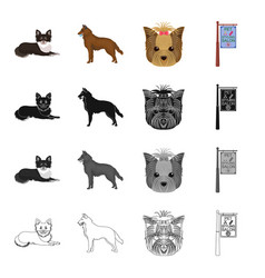 dog domestic animal and other web icon in vector image vector image