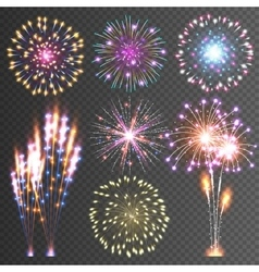 Festive Firework Abstract Pictograms vector image vector image