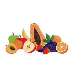 Fresh fruit tasty juicy healthy food design vector