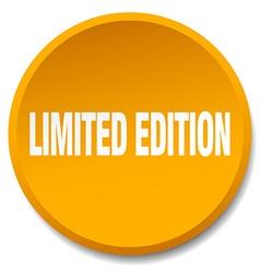 Limited edition orange round flat isolated push vector
