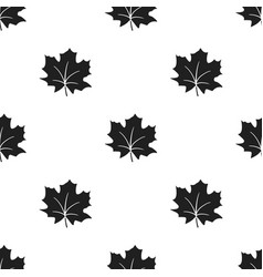 maple leaf icon in black style for web vector image