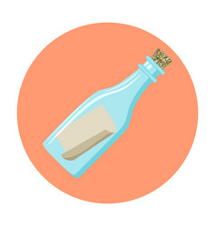 message in a bottle icon vector image