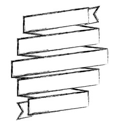 Monochrome sketch of spiral of ribbon vector