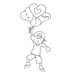 Mother day theme with kids character vector