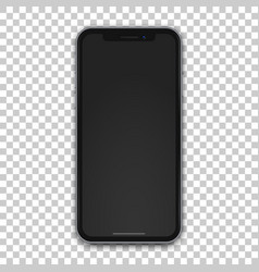 new black mobile template with empty screen vector image vector image