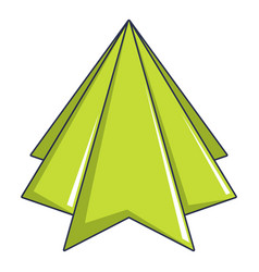 origami mountain icon cartoon style vector image vector image