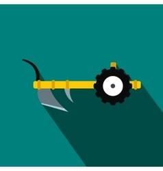 Plough flat icon vector
