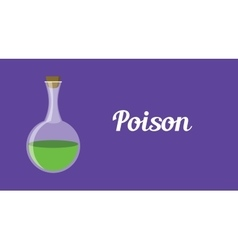 poison concept with green bottle vector image vector image
