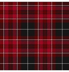 Pride of wales fabric texture red tartan seamless vector