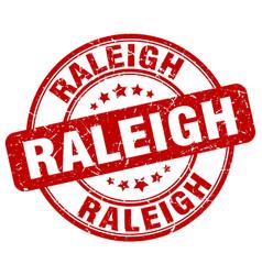 Raleigh red grunge round vintage rubber stamp vector