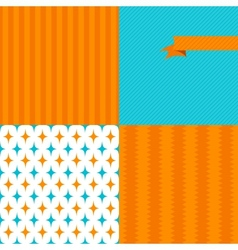Seamless abstract retro pattern Stylish geometric vector image vector image