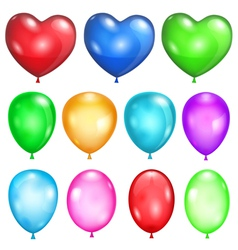 Set of opaque balloons vector