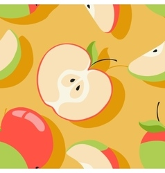 texture with apple motif vector image vector image