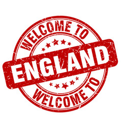 welcome to england vector image