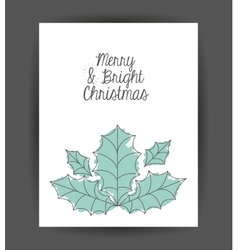 Leaf decoration for christmas season vector