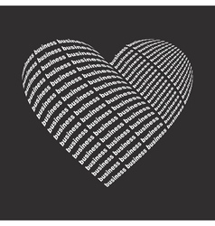 Business heart2 vector image