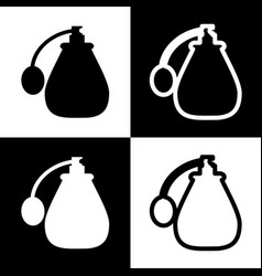 Black perfume icon set perfume icon object vector