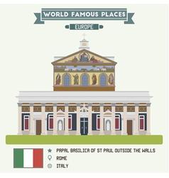 Basilica Rome vector image
