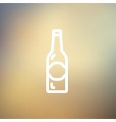Light beer bottle thin line icon vector