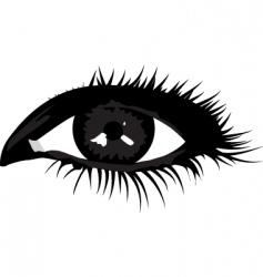 Smoky eye vector