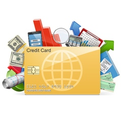 Business concept with credit card vector