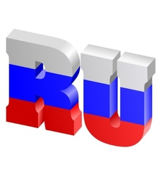 Internet top-level domain of russia vector