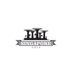 Singapore asia city symbol silhouette vector