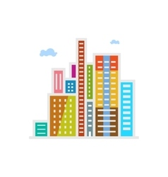 Modern buildings isolated on white vector