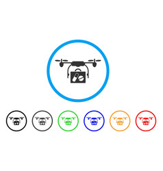 airdrone pharmacy delivery rounded icon vector image vector image