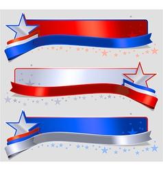 American Label Header vector image vector image