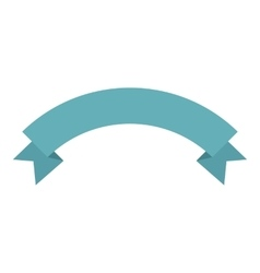 Blue banner ribbon icon flat style vector