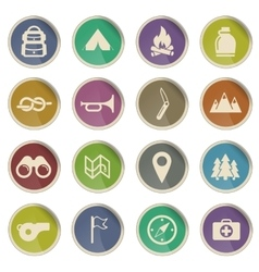 Boy Scout Label icons vector image