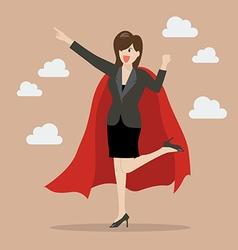 Business woman superhero vector
