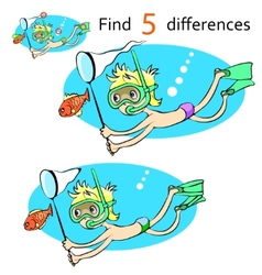 Cartoon character swimmer vector image vector image