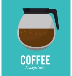 Coffee maker glass graphic vector
