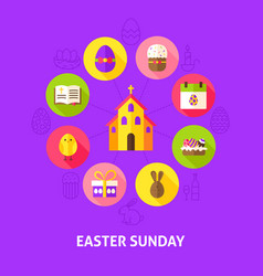 Concept easter sunday vector