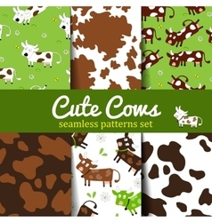 Cow-set-1 vector image vector image