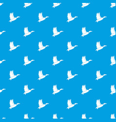 duck pattern seamless blue vector image vector image